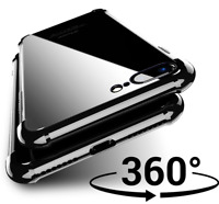 ShockProof 360 Hybrid Silicone Case With i8 Glass Front Cover for Apple iPhone 8