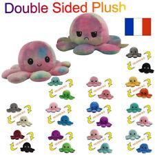 Peluche pieuvre Poulpe réversible jouet doudou idée cadeaux  Enfant Famille