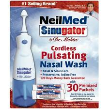4 Pack NeilMed Sinugator Cordless Pulsating Nasal Wash, 30 Premixed Packets each