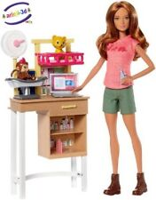 Barbie Zoo Doctor Veterinarian Vétérinaire Docteur Mattel New Doll Animals