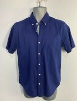 MENS GAP SIZE SMALL BLUE RED POLKA DOT CASUAL SHORT SLEEVE CREW NECK SHIRT TOP