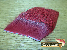 DEER BODY HAIR DYED RED for BODIES & WINGS - NEW FLY TYING MATERIALS