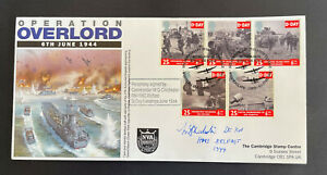 Rare 1994 Operation Overlord D-Day FDC signed, only 10 issued with full stamps