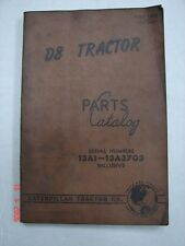 CAT Caterpillar D8 Tractor Parts Manual Catalog
