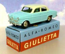 HACHETTE DIECAST MERCURY TOYS ALFA ROMEO GIULIETTA BICOLOR 2 TONE BLUE & WHITE