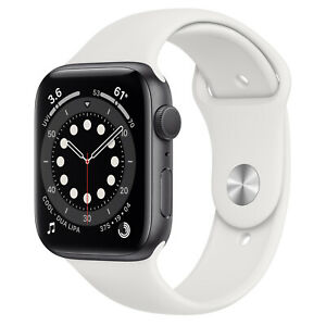 Apple Watch Series-4 44mm Space Gray Aluminum Case with White Sport Loop (GPS)