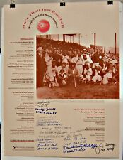 Autographed 10/20/94 Baseball Reunion Poster: Memphis Red Sox (Negro League)