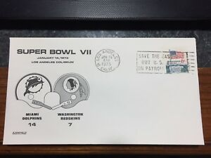 Super Bowl VII  Stamped and Metered envelopes from 1973