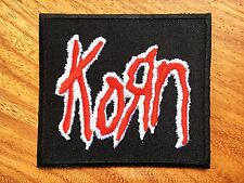 Korn Embroidered Sew Iron On Patch Rock Band Nu Metal Music Logo Heavy Jacket