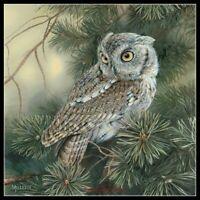 Screech Owl - Chart Counted Cross Stitch Patterns DIY Needlework embroidery