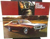 1972 Dodge Dealer Color Sales Brochure Folder Charger Rallye SE
