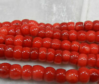 """Hot 4x8mm Red Natural Sea Coral Abacus Loose Beads15"""" strand 2019"""