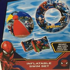 Marvel Spiderman Inflatable Swim Ring Arm Floats Beach Ball Tube Float Pool Toy