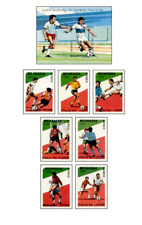 NIC8903 Football block and 7 stamps