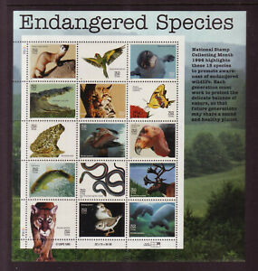 US #3105 Endangered Species 32 Cents Complete Sheet of 15 Mint Never Hinged