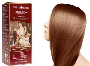 Surya Brasil Henna Cream - Golden Brown, 2.37 oz Hair Color Dye Exp. 08/2022