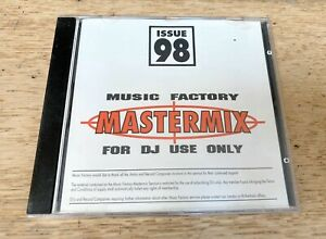 Music Factory Mastermix Issue 98 DJ Only Mixed CD very good condition