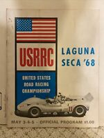 1968 USRRC Laguna SECA Official Road Racing Program Race Sports Cars 36 Pages