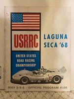1968 USRRC Laguna SECA Official Road Racing Program Race Sports Cars 36 Pages