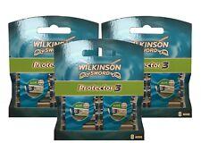 24 Wilkinson Sword Protector 3 Rasierklingen Ersatzklingen mit Aloe - 3 x 8er