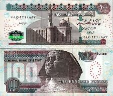 EGYPT 100 POUNDS 2013, UNC, PREFIX 999,  P-67, SIGN 23 RAMEZ