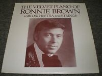 The Velvet Piano of Ronnie Brown w Orchestra & Strings~VG+ Vinyl LP~Fast Ship!