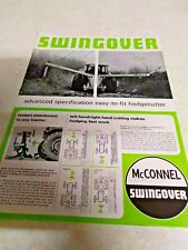mcconnel swingover hedgecutter sale brochure 2 page