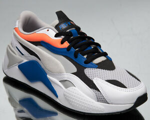 Puma RS-X3 Prism Men's White Blue Black Athletic Casual Lifestyle Sneakers Shoes