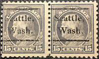 Scott #514 US 1917 Pair of Franklin 15c Postage Stamps VF