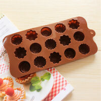 15 Cavity Silicone Rose Flower Chocolate Cake Soap Tray Baking-Ice Mold Mou L8G0