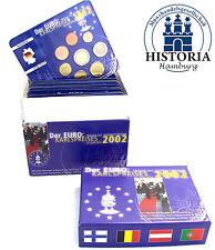Karlspreis Box Komplettsatz mit 12 x 3,88 Euro Kursmünzen der Gründerlander 2002