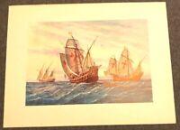 Kunstdruck Galerren gemalt um 1885 Poster 44,5 x 33,5 auf weißem Papier (M2)