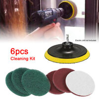 6PCS Drill Brush Electric Attachment Set Power Auto Scrubber Cleaning Cleaner