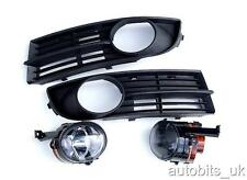 FOG LIGHTS LIGHT LAMPS BUMPER GRILLS GRILL LEFT & RIGHT FOR VW TOURAN 2003-2006