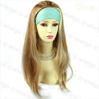 Sexy Beautiful Layered wavy Blonde mix Brown Long Ladies Wigs Skin Top WIWIGS UK