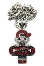 """NEW ICED OUT """"TRUCK TOMMY"""" PENDANT & 36"""" 6mm MIAMI CUBAN CHAIN."""