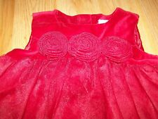 Toddler Size 2T Gymboree Solid Red Burgundy Maroon Holiday Dress Tulle New $56