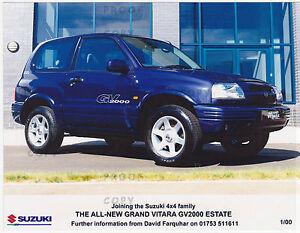 SUZUKI GRAND VITARA GV2000 ESTATE PRESS PHOTO  2000 ***POST FREE UK ***