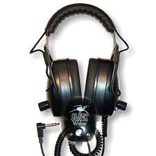 DetectorPro Black Widow Angled Plug Metal Detector Headphones Lifetime Warranty