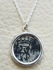 Authentic Spanish Colonial Pirate Shipwreck Copper Cob Coin 925 Silver Necklace