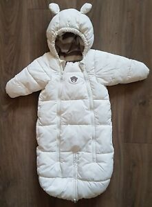 Baby Wagensack Schneeanzug  Gr. 50/56, weiß, neutral, unisex