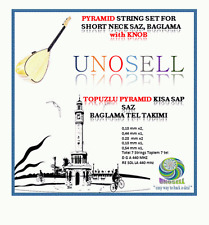 PYRAMID STRING SET WITH KNOB FOR TURKISH STRING INSTRUMENT SHORT NECK SAZ !!!!!