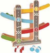 Hape FAST FLIP RACETRACK Pre-School Young Children Wooden Toy Game BN