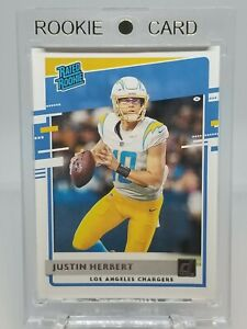 Justin Herbert Rated Rookie Card #303 : 2020 Donruss Chargers RC 🔥⚡