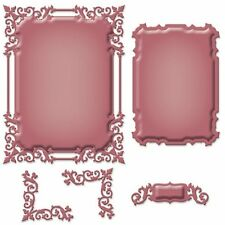SPELLBINDERS SHAPEABILITIES REGAL FRAME TAG CORNER 5 DIE SET - NEW