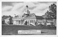 Hackensack New Jersey Nystroms Restaurant Street View Antique Postcard K39503