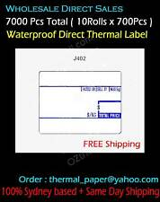Water Proof Label 58x40mm BLUE Direct Thermal Label