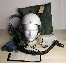 Vintage VIETNAM WAR ERA MBU-5/P Oxygen Mask Helmet Headset Flight Book Bag Lot