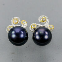 Pearl Earrings Silver 925 Sterling Vintage  /E38668