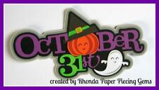 Halloween Oct 31st paper piecing Title Premade Scrapbook Pages Album by Rhonda
